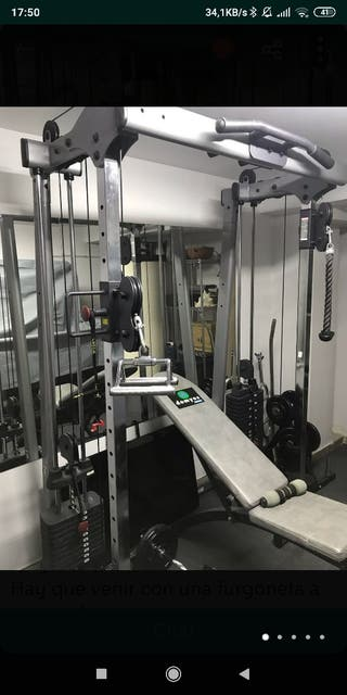 cruce poleas Body solid 150kg placas