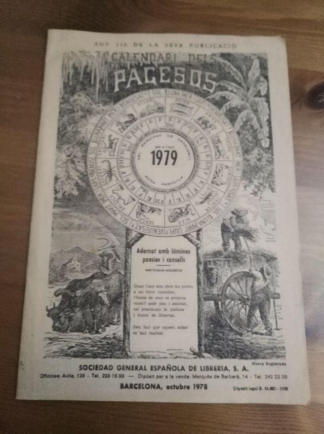 Calendario Del 1979.Calendario Del Payes De Segunda Mano Por 5 En Palafrugell