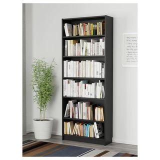 3 estanterías librería Billy ikea wengue