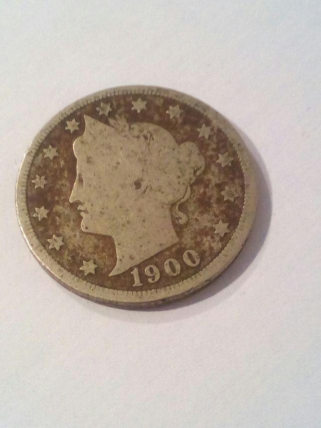 Moneda USA 5 centimos del 1900