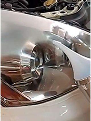 Reparación de faros con polímero liquido