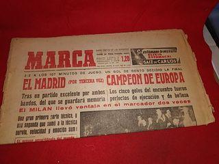 periódico Marca real Madrid tercera copa europa