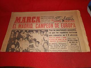 periódico original Marca real Madrid campeón europ