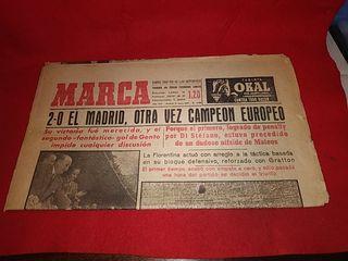 periódico Marca real Madrid segunda copa Europa