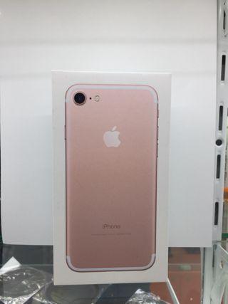Caja iphone 7 rose gold 256gb