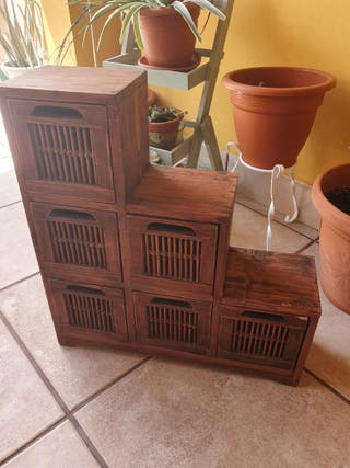 mueble escalera de madera