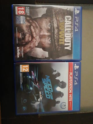 call of duty y need for speed