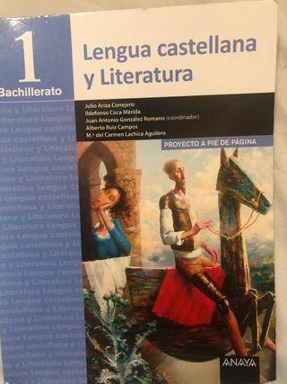 Libro de Lengua castellana y Literatura 1 Bachille