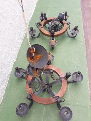 lampara araña de techo