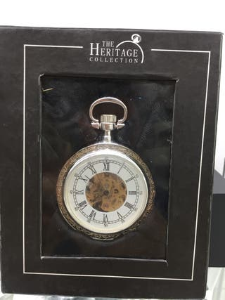 Reloj de bolsillo mecánico esqueleto para hombre