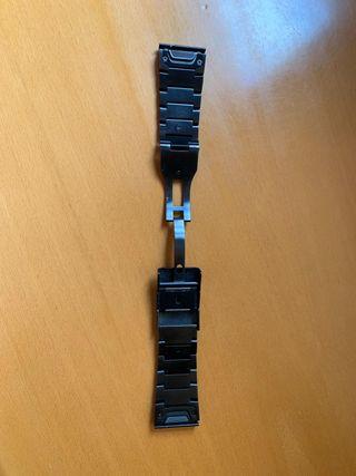 correa metálica Garmin fénix 3 y fénix 5x