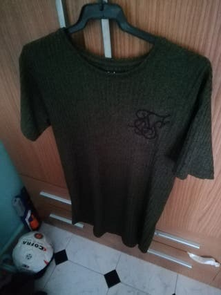 Camiseta siksilk verde oscura