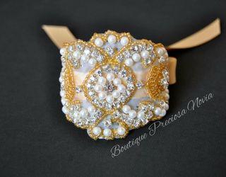 Pulsera para novia ,invitada ,pulsera en oro Nueva