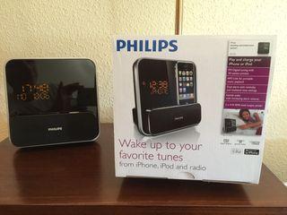 RADIO RELOJ DESPERTADOR PHILIPS PARA iPOD/iPHONE