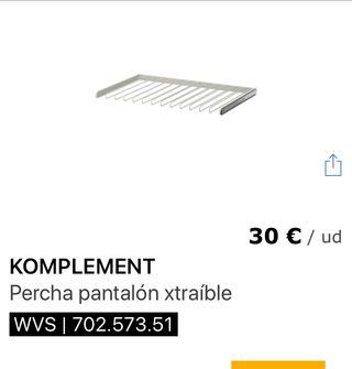Pantalonero extraible y balda Ikea