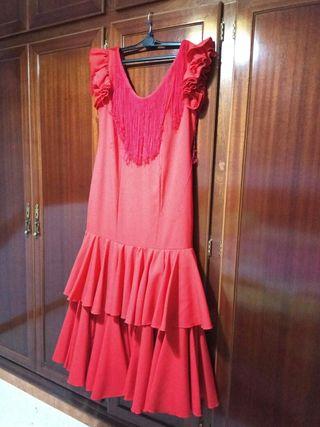Traje de Flamenca Rojo. Talla 42/44