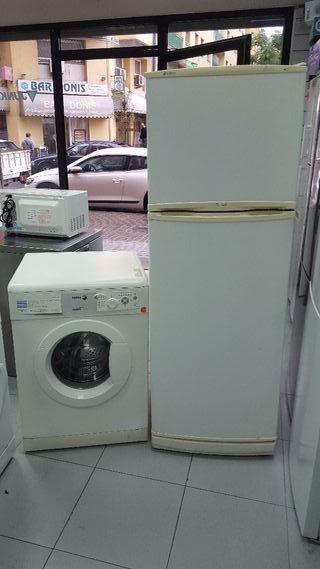 pack nevera nofrost + lavadora con grantia