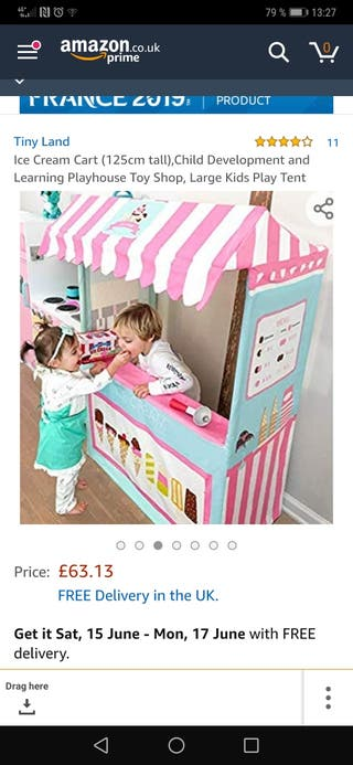 ice cream tent from Tiny land