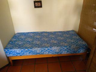 cama-somier + colchón con funda