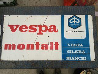 Cartel de chapa Vespa