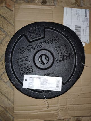 10 Discos/Pesas 5 KG DECATHLON 28MM