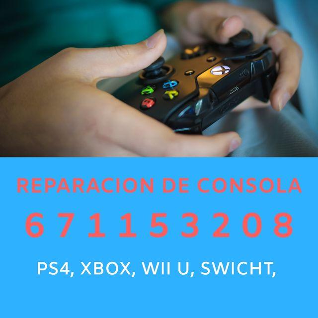 Reparar PS4, XBOX, WII U, SWITCH, DS, PSP, VITA