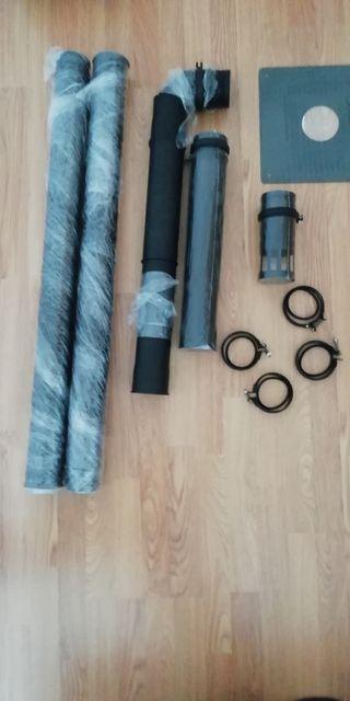 tubos chimenea pellets
