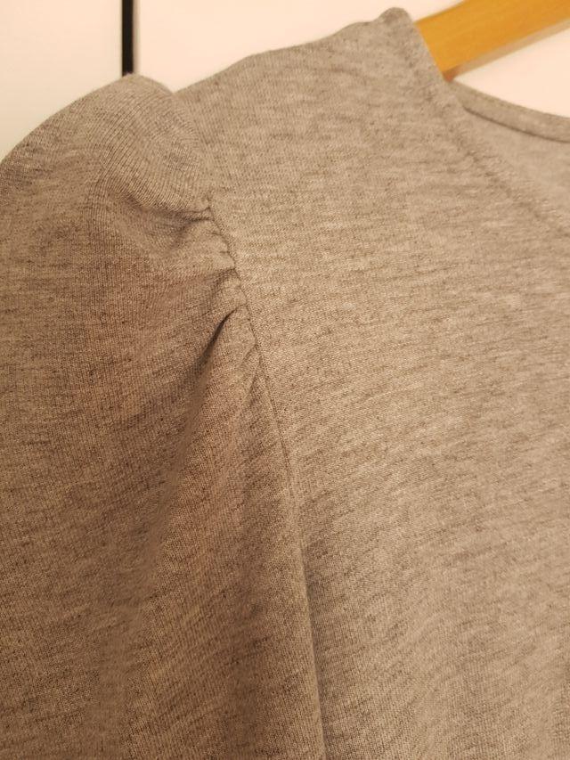 vestido BERSHKA t.M entallado manga farol nuevo