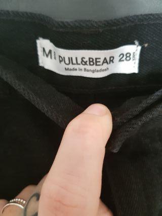 mini PULL BEAR T.M negra vaquera impecable