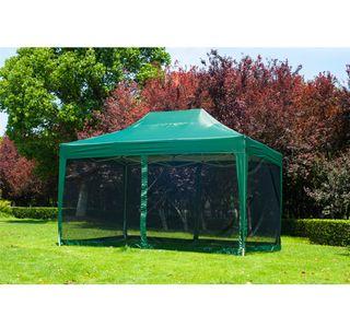 Carpa plegable 4.5x3m verde NUEVA