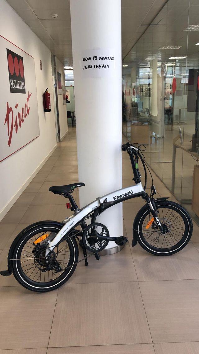 Bicicleta Eléctrica plegable Kawasaki