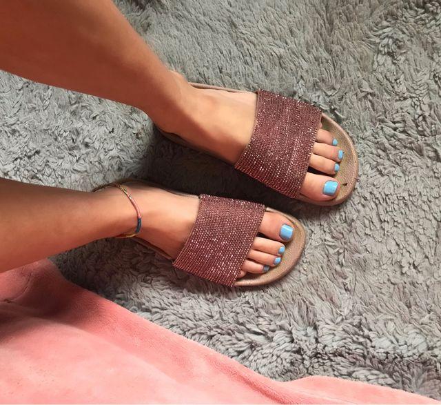 Pink sliders used