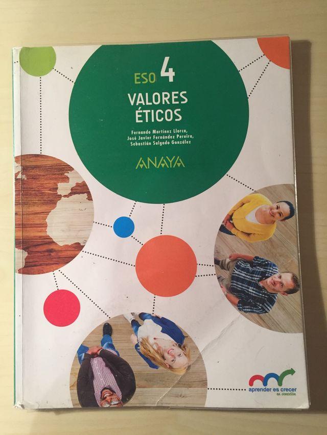 Libro de Valores Éticos 4ºESO
