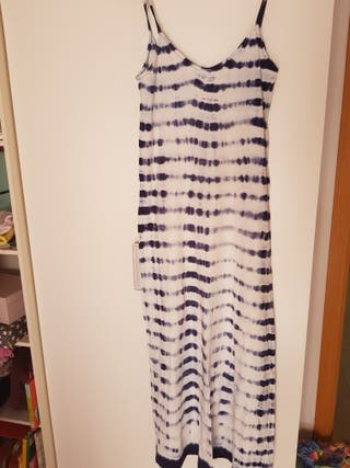 vestido largo tie diy ZARA t.M degradado