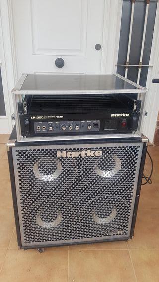 Ampli bajo Hartke LH1000 + pantalla y rack