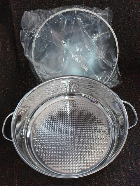 Olla de aluminio con tapa, sin estrenar