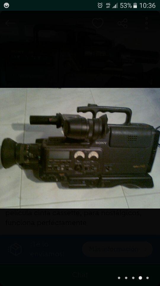 cámara video sony
