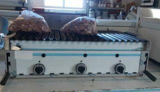 barbacoa a gas de piedra volcánica