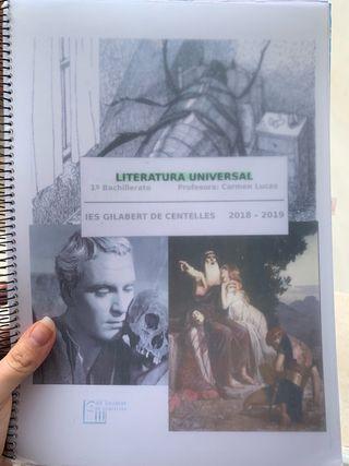 Libro Literatura universal 1 bachiller