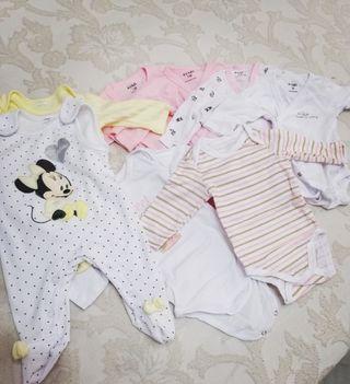 Lote ropa primera postura bebé