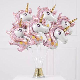 10 globos palo unicornio NUEVO