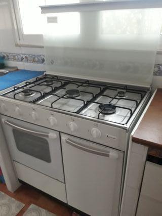 Cocina de gas 5 fuegos y horno