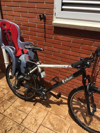 Bici con silla de niño