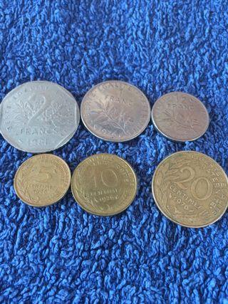 6 MONEDAS FRANCESAS