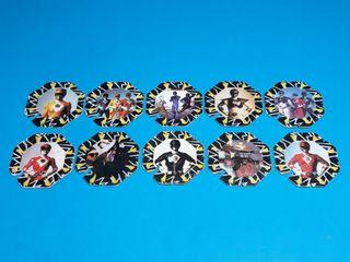 coleccion completa 10 tazos negros power ranger