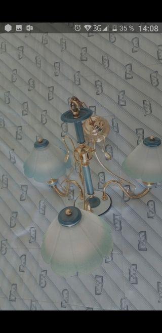 Conjunto completo: lámpara techo + 2 de mesita