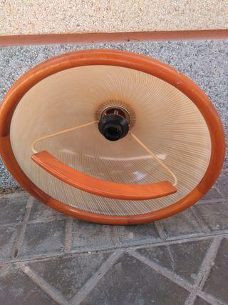 lampara de madera vintage añis 60/70