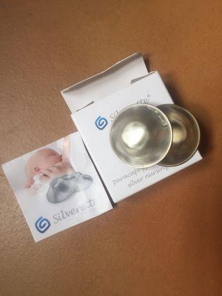 Copas de lactancia Silverette en plata