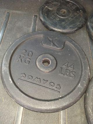 Discos de 20kg.