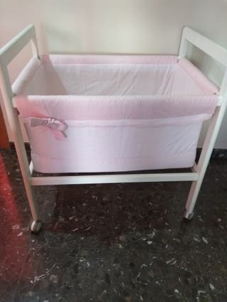 textil minicuna rosa palo